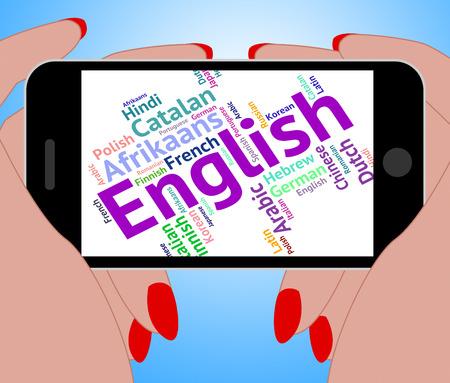 lingo: English Language Indicating Learn Catalan And Speech Stock Photo