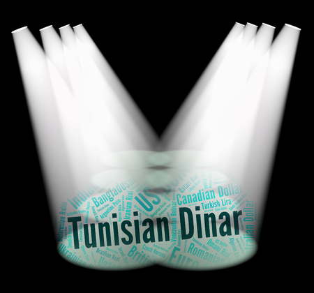 dinar: Tunisian Dinar Showing Currency Exchange And Banknote