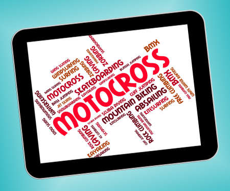 super cross: Motocross Words Showing Motorcycle Motorcross And Motor