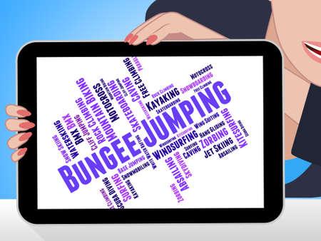 bungee jumping: Bungee Jumping Significado deporte extremo y Aventura Foto de archivo