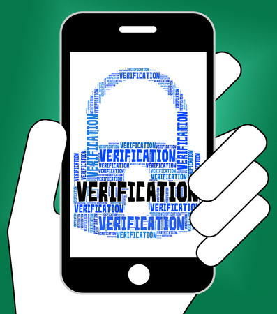 verifying: Verification Lock Indicating Guaranteed Authentic And Certificated Stock Photo