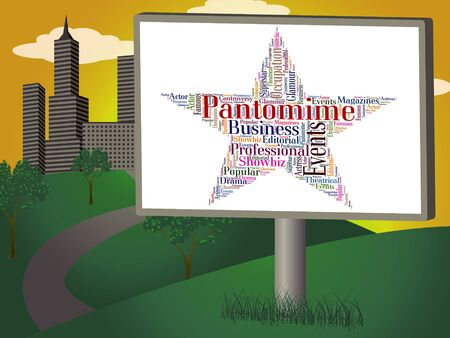 pantomime: Pantomima estrella Mostrando Melodrama Palabra y teatro