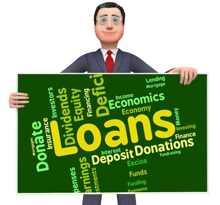loaning: Loans Word Showing Borrow Wordcloud And Text
