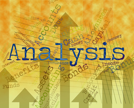 Analysis Word Showing Data Analytics And Text Banco de Imagens