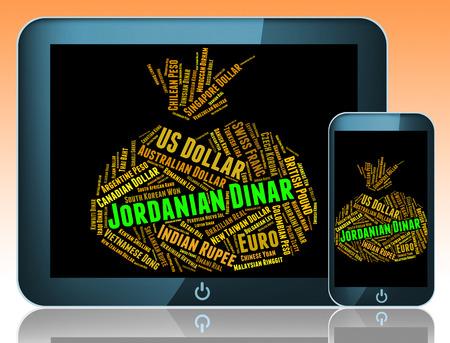 dinar: Jordanian Dinar Indicating Forex Trading And Market Stock Photo