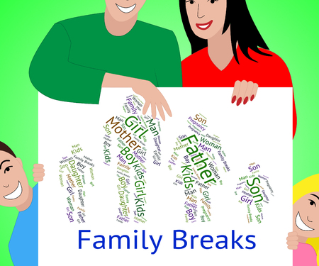 time off: Family Breaks Representing Go On Leave And Time Off Stock Photo