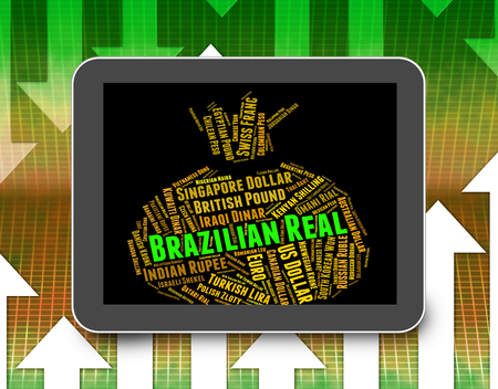 coinage: Brazilian Real Representing Worldwide Trading And Text