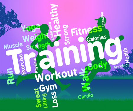 get a workout: Training Words Indicating Physical Activity And Fitness