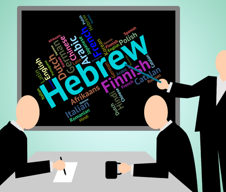 dialect: Hebrew Language Showing Israel Foreign And Translate