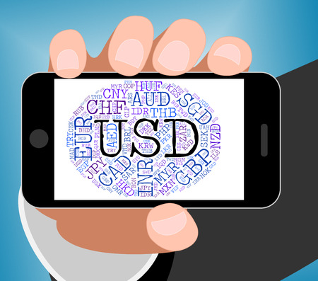 usd: Usd Currency Representing United States Dollar And Forex Trading