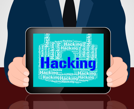 Hacking Lock Showing Virus Vulnerable And Threat