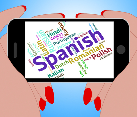 spanish language: Spanish Language Meaning Words Speech And Vocabulary Stock Photo