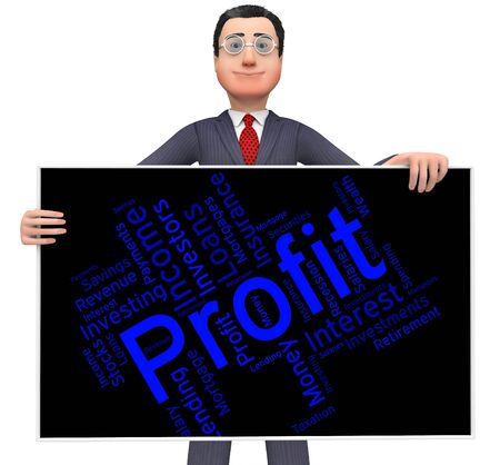 earns: Profit Word Representing Profits Earns And Earn Stock Photo