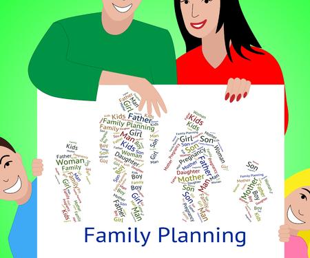 planificacion familiar: Planificaci�n familiar que muestra la relaci�n de sangre y ni�os