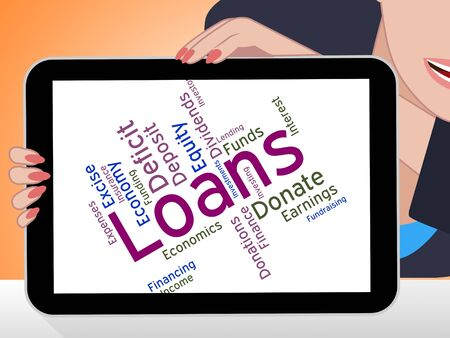 loaning: Loans Word Representing Text Advance And Borrows