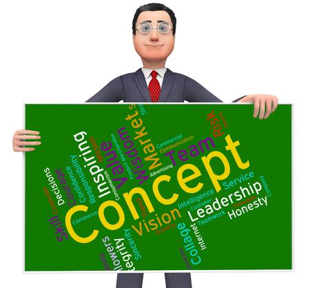 hipotesis: Concepto Palabra Mostrando Noción Conceptualización Y Hipótesis