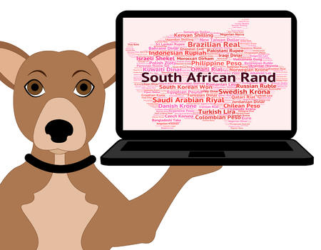 rand: South African Rand Meaning Forex Trading And Wordcloud Stock Photo