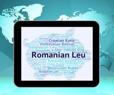 leu: Romanian Leu Indicating Exchange Rate And Broker