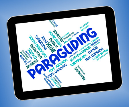 paragliding: Paragliding Word Representing Wordcloud Glider And Paraglider