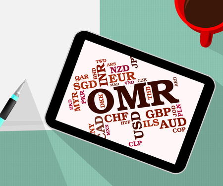 oman: Omr Currency Meaning Oman Rials And Market Stock Photo