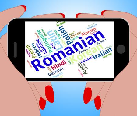 translator: Romanian Language Indicating Text Translator And Speech