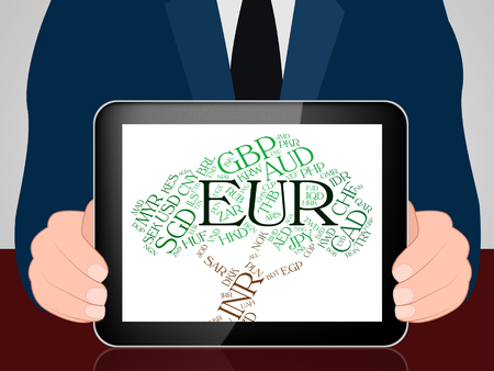 europeans: Euro Currency Showing Worldwide Trading And Europeans