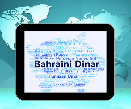 dinar: Bahraini Dinar Indicating Foreign Currency And Exchange