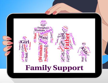 apoyo familiar: Apoyo a la Familia que significa sangre relativa y texto