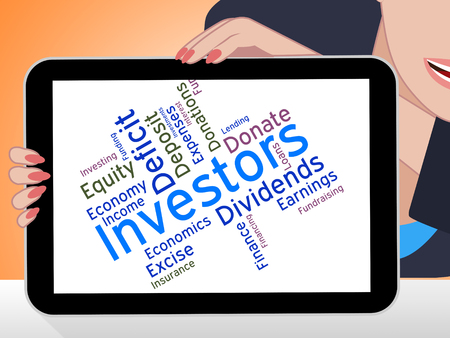 buy shares: Investors Word Meaning Return On Investment And Opportunity Wordcloud