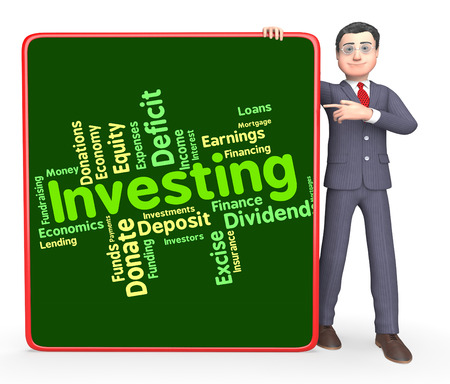 buy shares: Investing Word Indicating Return On Investment And Investments Invests