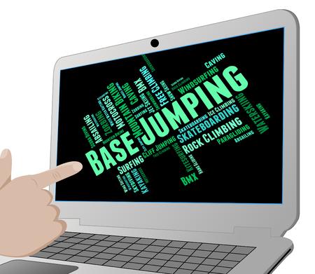 adrenalin: Base Jumping Representing Parachuting Skydiving And Basejumper