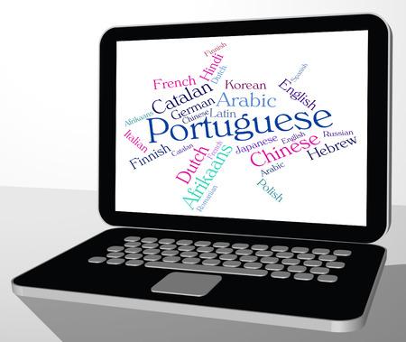 lingo: Portuguese Language Showing Word Translate And Lingo