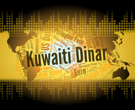 dinar: Kuwaiti Dinar Showing Worldwide Trading And Foreign