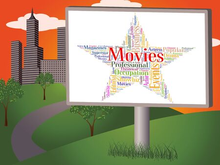 motion picture: Movies Star Showing Motion Picture And Films