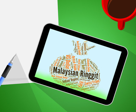 coinage: Malaysian Ringgit Showing Exchange Rate And Coinage