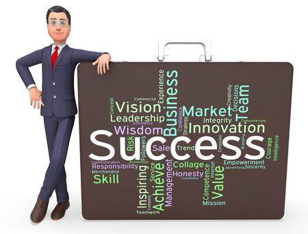 succeed: Success Words Meaning Succeed Triumph And Text Stock Photo