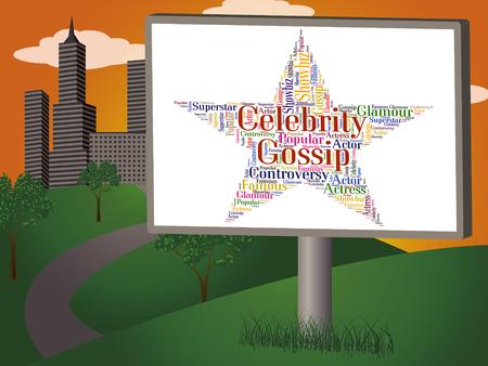 stardom: Celebrity Gossip Representing Spreading Rumours And Rumor