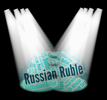 foreign exchange: Russian Ruble Meaning Foreign Exchange And Currency Stock Photo