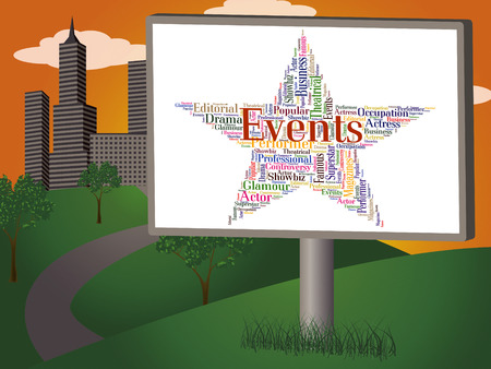happenings: Events Star Meaning Affairs Function And Words Stock Photo