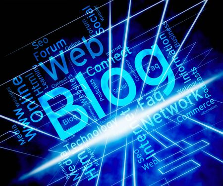 blogger: Blog Word Showing Websites Web And Blogger