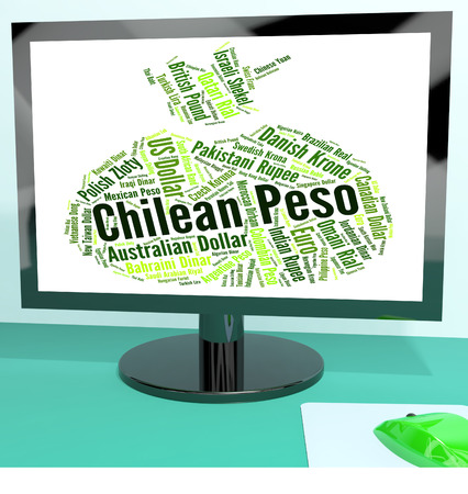peso: Chilean Peso Indicating Currency Exchange And Pesos