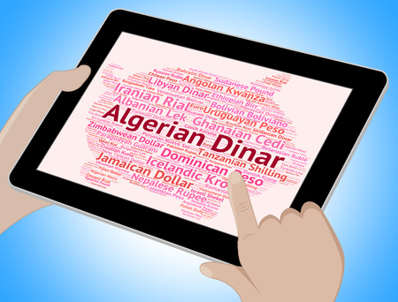 dinar: Algerian Dinar Showing Currency Exchange And Dzd