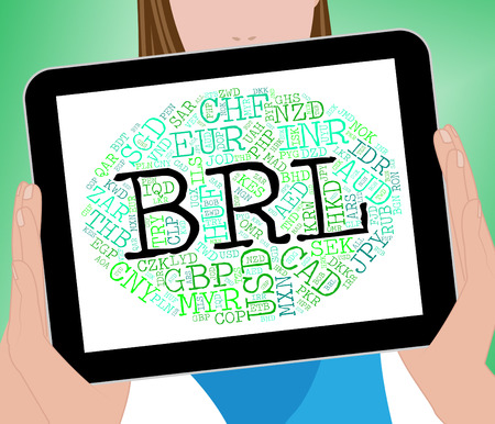foreign exchange: Brl Currency Indicating Foreign Exchange And Brazil