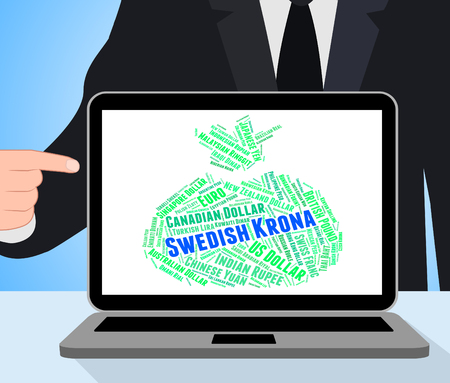 exchange rate: Swedish Krona Representing Exchange Rate And Sweden Stock Photo
