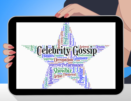 stardom: Celebrity Gossip Meaning Chat Room And Chatter Stock Photo