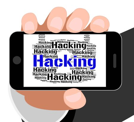 hacked: Hacking Lock Meaning Crime Malware And Text