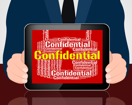 confidentially: Confidential Lock Showing Secret Secrecy And Confidentially Stock Photo