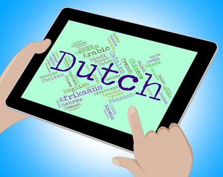 translator: Dutch Language Representing Translator Dialect And Netherlands Stock Photo