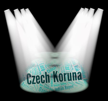 koruna: Czech Koruna Showing Worldwide Trading And Wordcloud