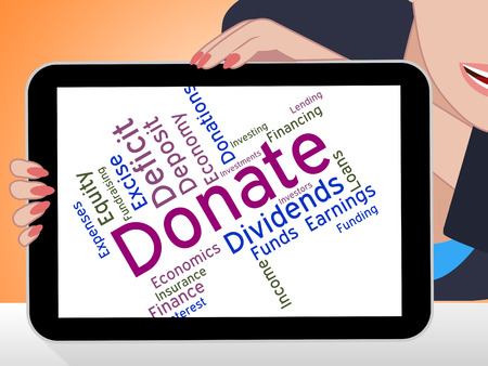 Donate Word Showing Supporter Give And Text Stock Photo